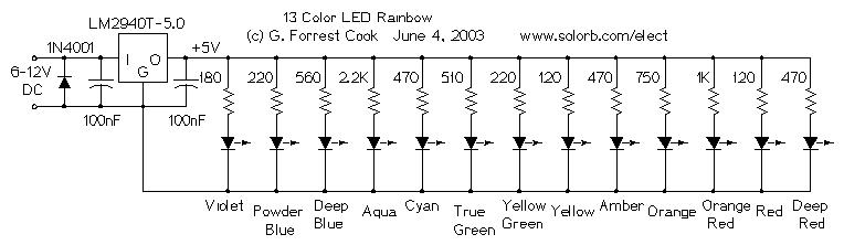 cir_solorb_ledrbow1sch 13 color led rainbow � circuitsarchive 12v led circuit diagram at mifinder.co