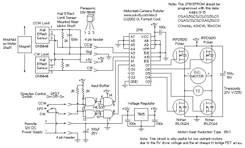 motorized video camera mount circuitsarchive rh circuitsarchive org Digital Camera Diagram Security Camera Wiring Diagram