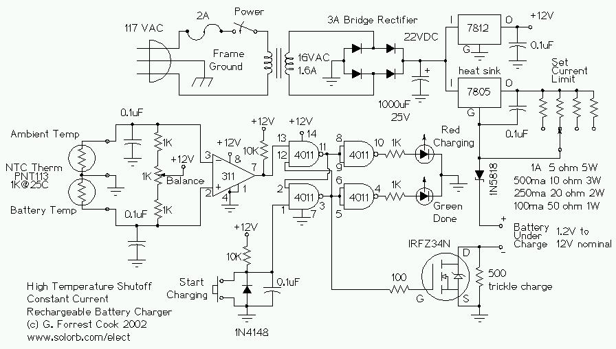 Temperature Controlled Nicd Charger  U00b7 Circuitsarchive